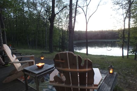 Family Cabin set on 14 acres overlooking Ward Lake