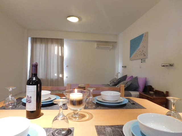 The room has Kitchen, kitchenette,mini-fridge, air-conditioner and a big balcony