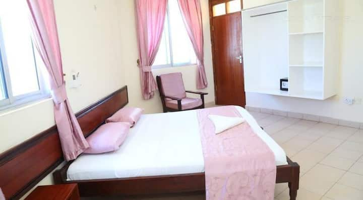 Serviced apartments with a pool and social area