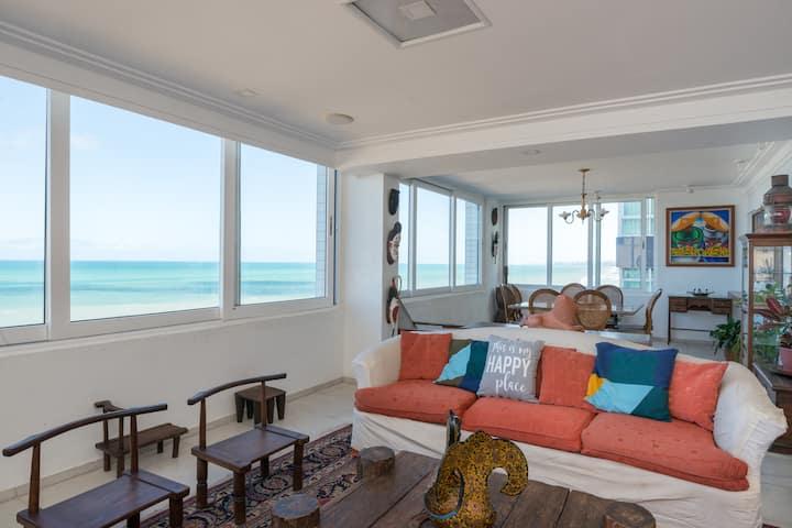 Extraordinario apartamento beiramar, Recife