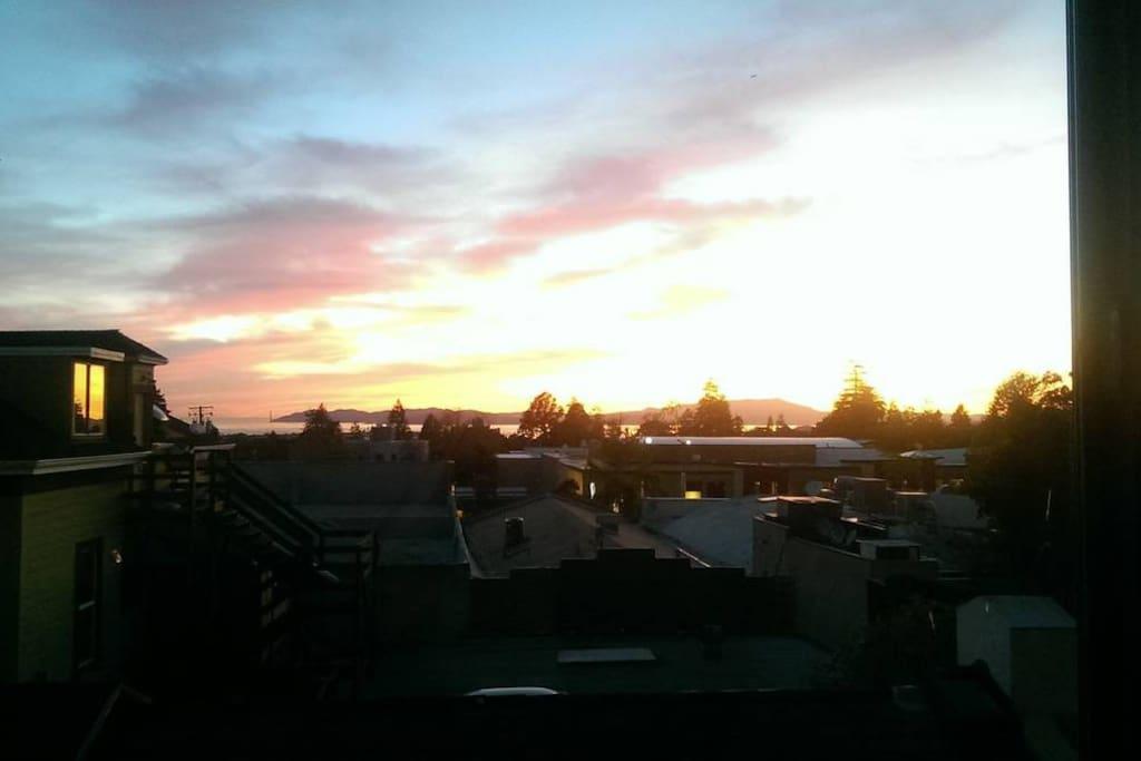 beautiful sunset views!
