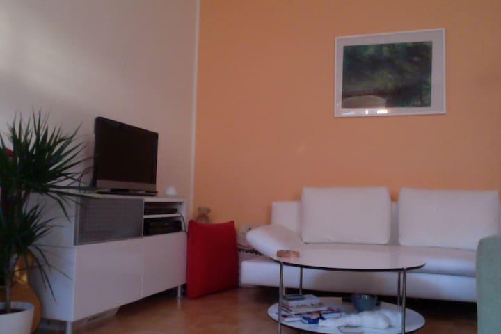 Möblierte, ruhige, helle Wohnung mit Bad u. Balkon