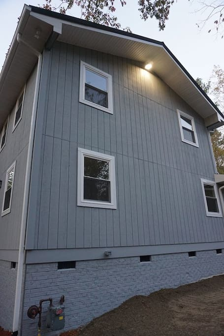 Our guest suite is the 1st floor on the left side  of the house in our new addition.
