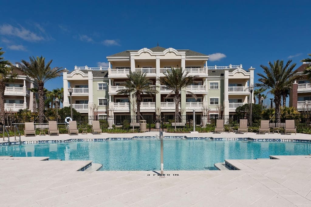 The Reunion Resort condo is conveniently located close to the community pool and splash pad