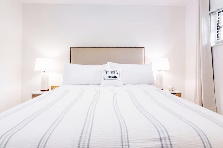 Brand new queen size bed. Smart TV in bedroom with free Netflix.