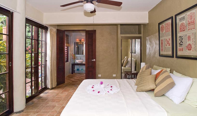 Three luxurious bedrooms are available for a smaller group.
