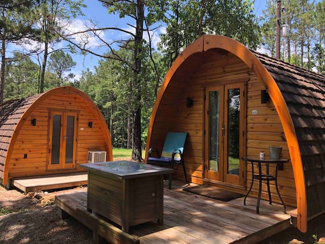 Ted pod and private bathroom just a few feet from deck