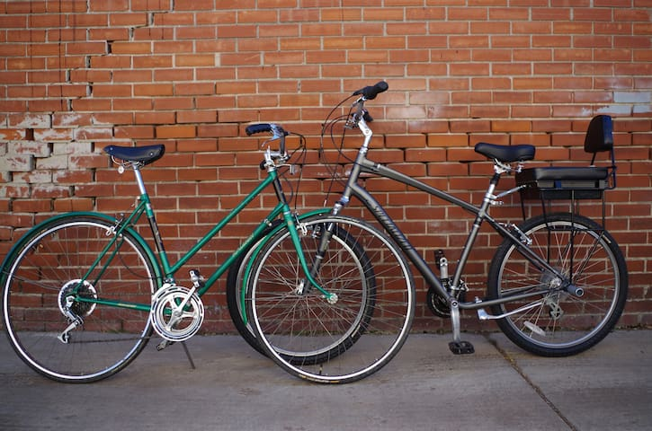 Use our bikes for free!  Bike through Denver at a leisurely pace using one of the many bike lanes or bike paths near our house.  A great way to explore Denver.  Spend the $$$ saved from Ubers on craft beer and delicious food!