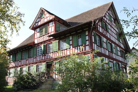 Grosses, sauberes Zimmer nähe Bodensee. - Kesswil - Bed & Breakfast
