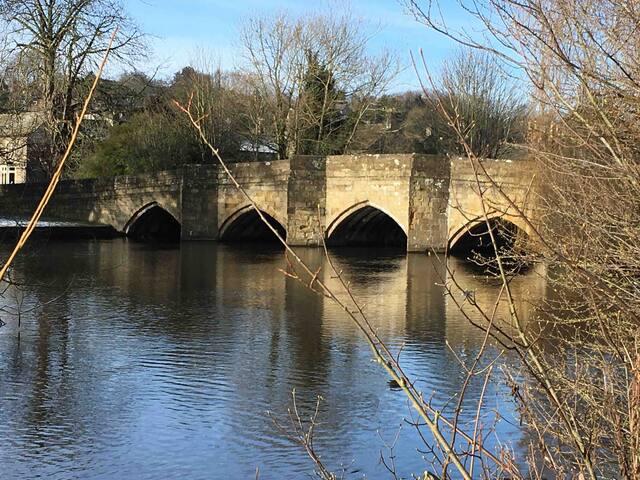 Iconic Bakewell Bridge over the River Wye