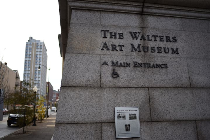 Walters Art Museum right across the street from the mansion