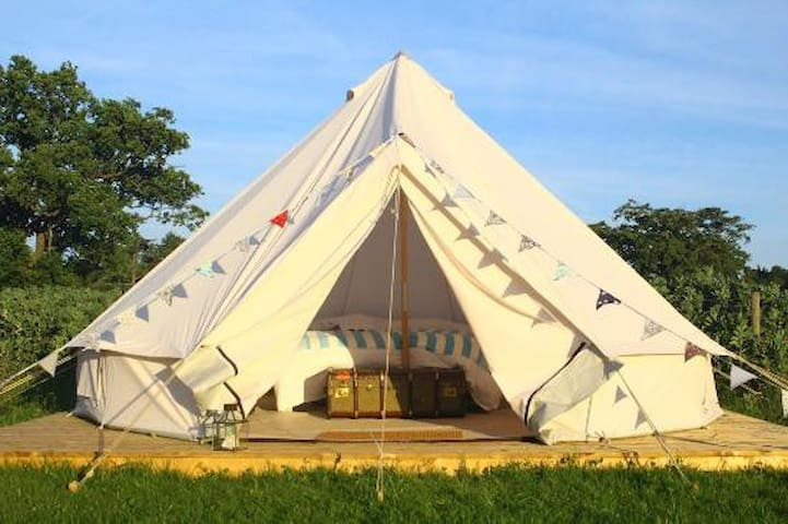 Glamping Yurt with hot tub in North Yorkshire
