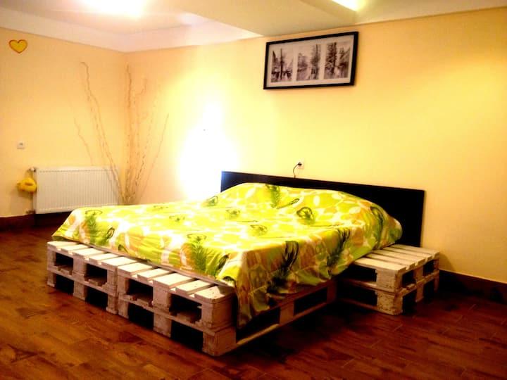 Hostel KOLGA: Room #5 -Family room (private bath.)