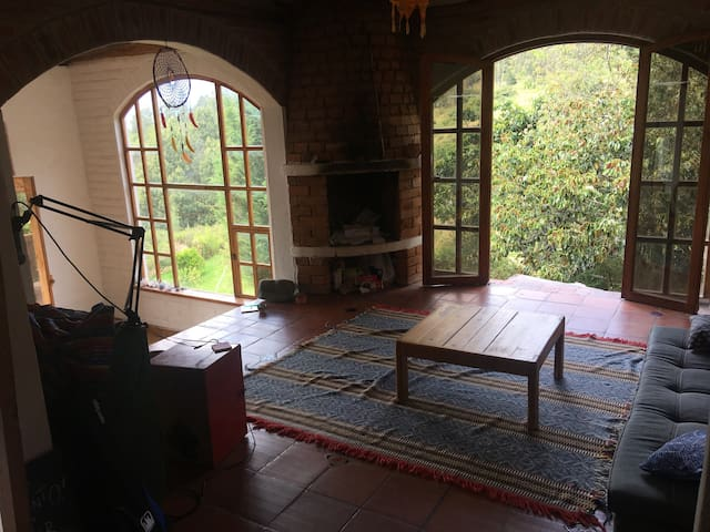Sala con chiminea / Living room with chimney