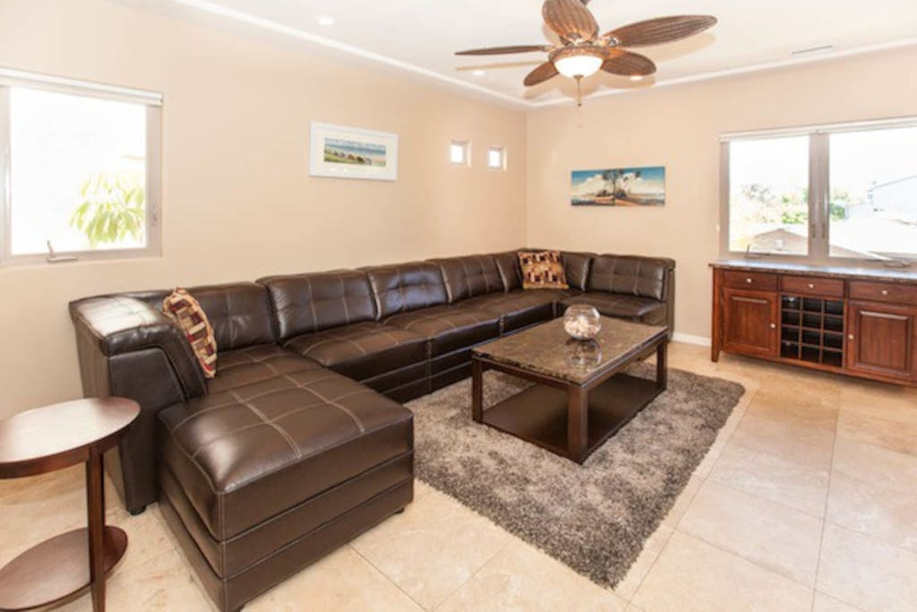 Spacious Living Room Couch