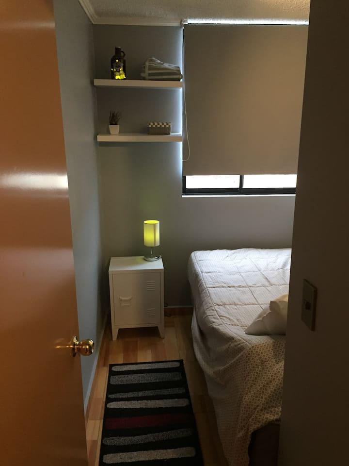 Cómoda habitación-baño en Barrio Matta+Desayuno