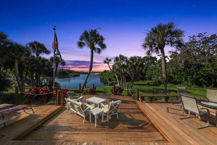 Updated Waterfront Home with Heated Pool