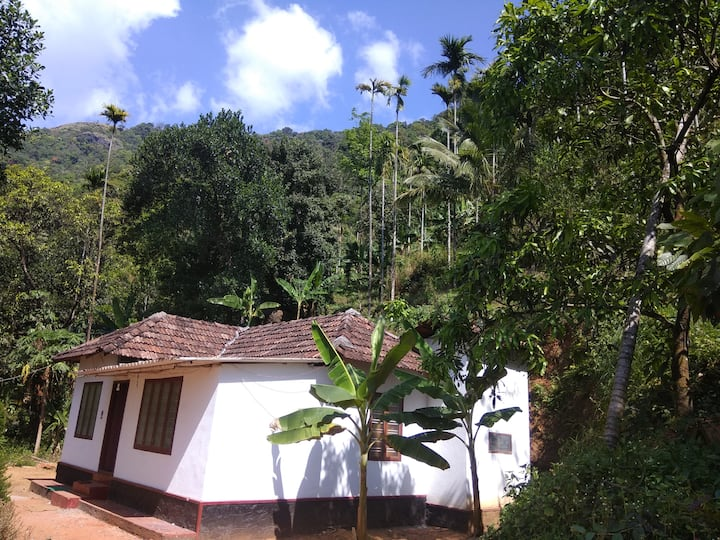 2 bedroom jungle home in Paithalmala with 3 beds.