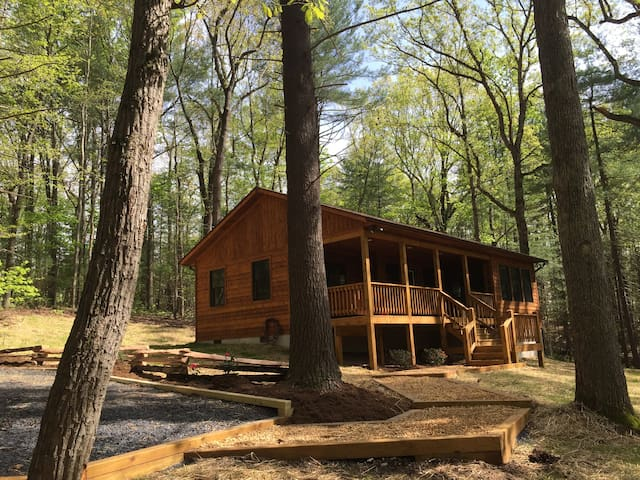 """Solitude"" Secluded 1 BR Cabin with Hot Tub - Rileyville - Cabane"