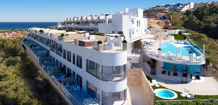 Lujo, playa y piscina en zona residencial