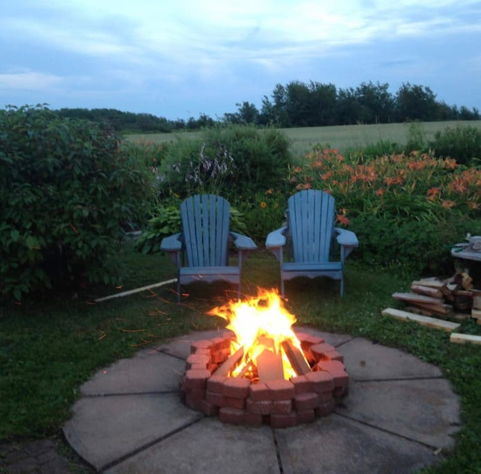 Relax to a fire in the garden each evening
