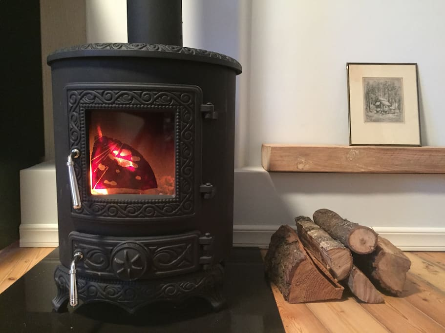 Fire stove for perfect winter holidays.
