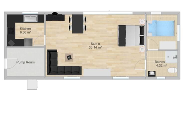 The Pool House Floor Plan