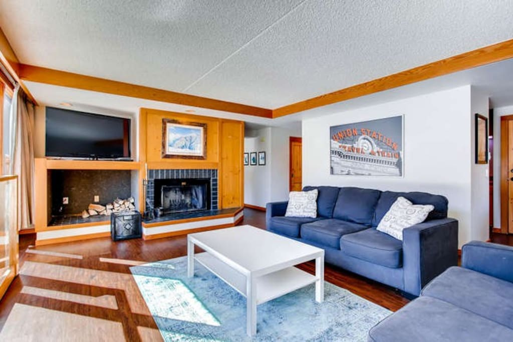 The living room is the ultimate place to relax with new flooring and furnishings.