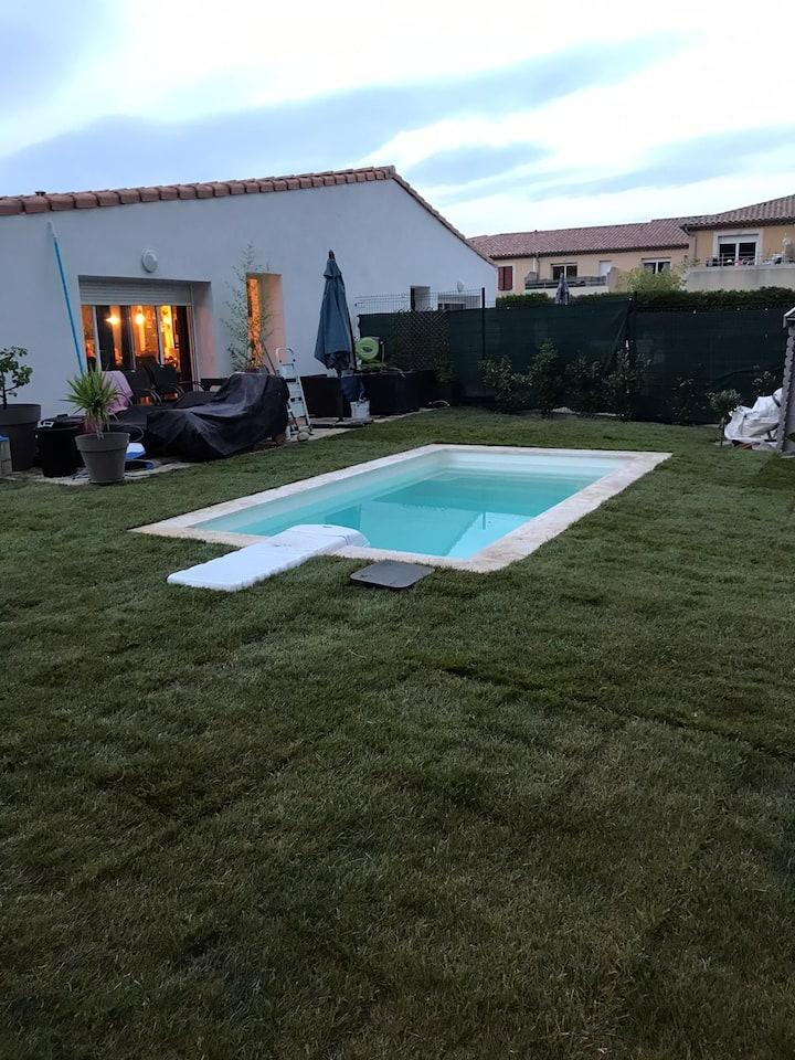 Appartement t3 + piscine la roque d'antheron