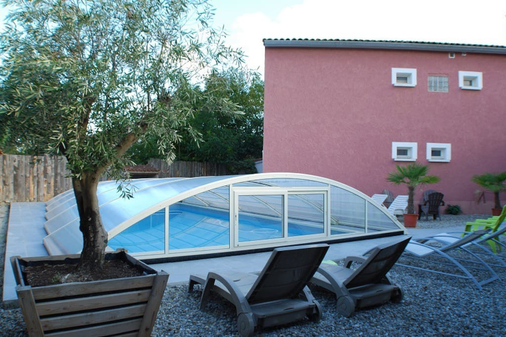 Piscine couverte 10mx5m (au sel)