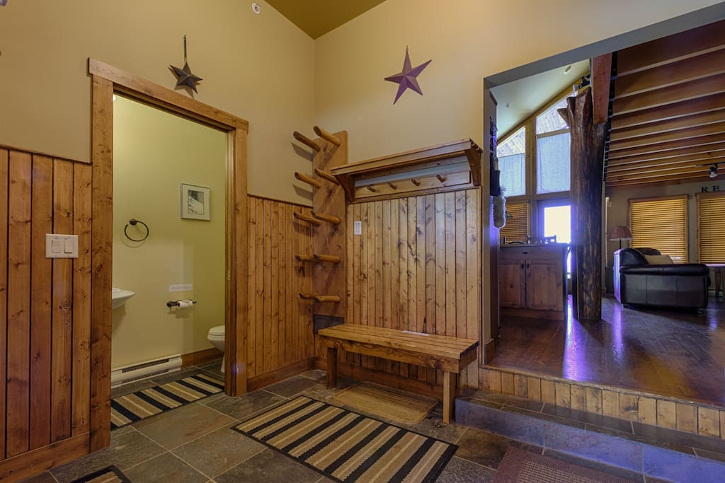 Our foyer has a 1/2 bathroom, boot dryer and lots of room to get ready for your daily adventures!