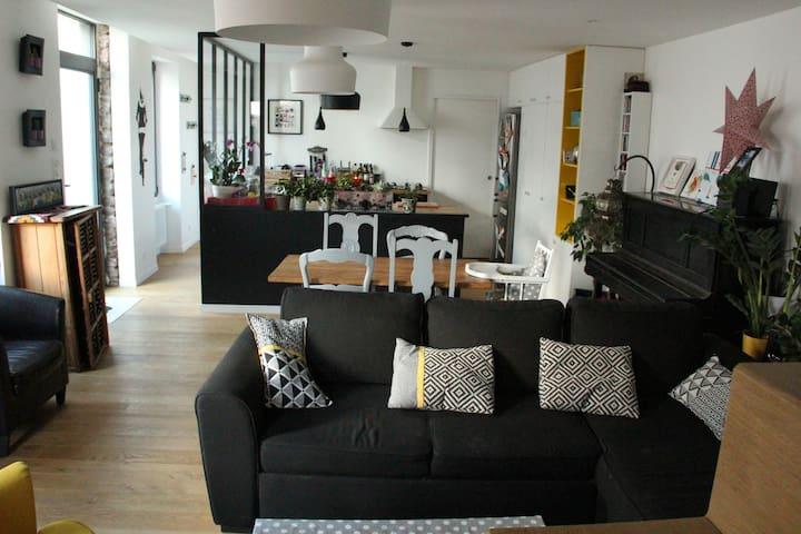Maison familiale de Ville 7/8 personnes - Rennes - Huis