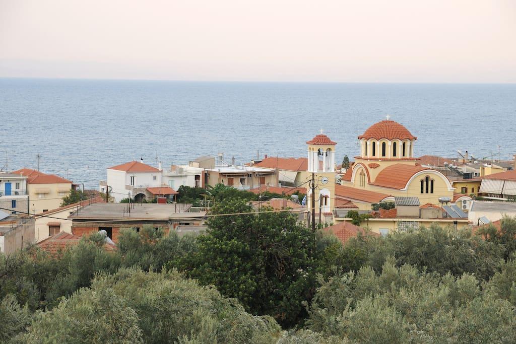 The amazing view from the balconies, quadruple studio