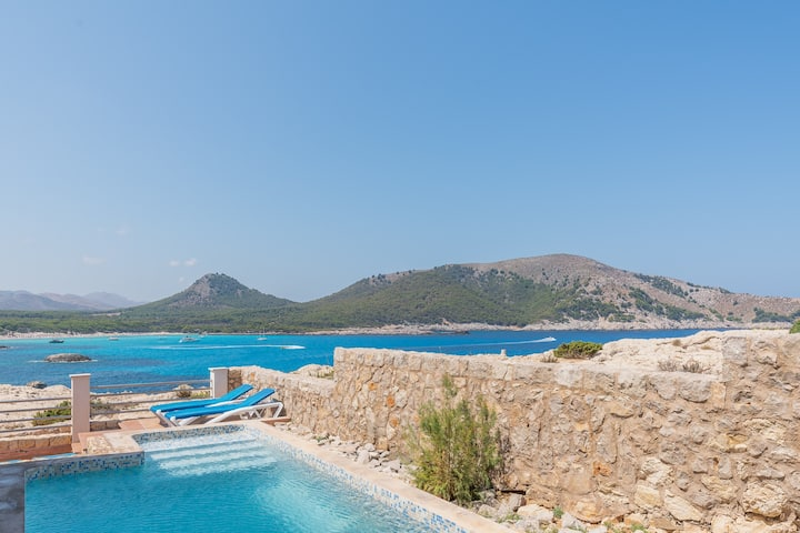 NEW!Cala Agulla:Modern house pool, great sea views