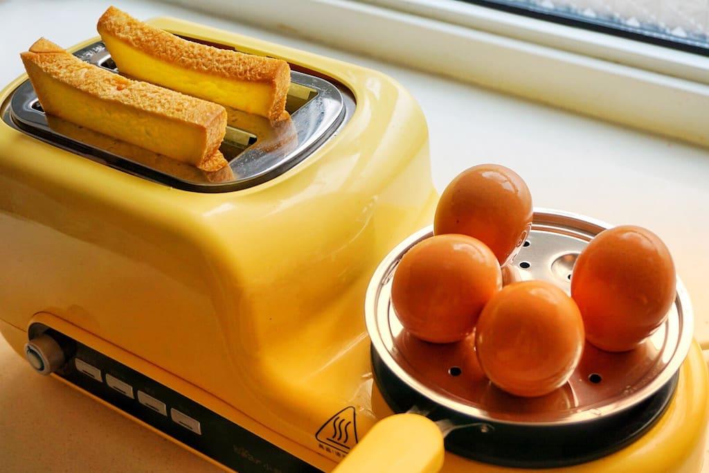 为您提供了早餐机 可以自行煎面包片 煮鸡蛋