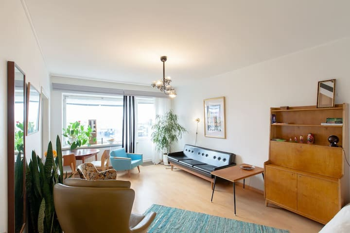Central location with small terrace and great view