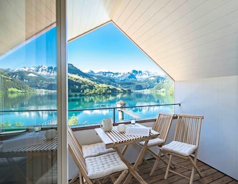 Acogedor, únic i elegant al costat del llac i les muntanyes
