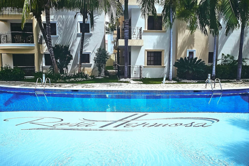 Sunbathe by the huge clean residence pool, lay on the sunbeds and have total relaxation