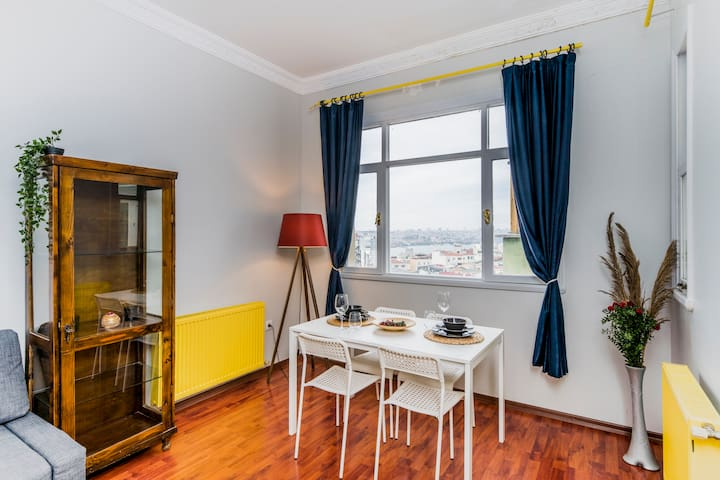 YOUR LUXURIOUS FLAT STEPS AWAY FROM GALATA TOWER!!