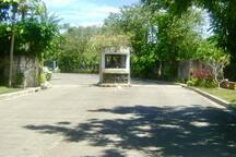 Main entrance to Cebu White Sands Villas with 24 hr. neighborhood security