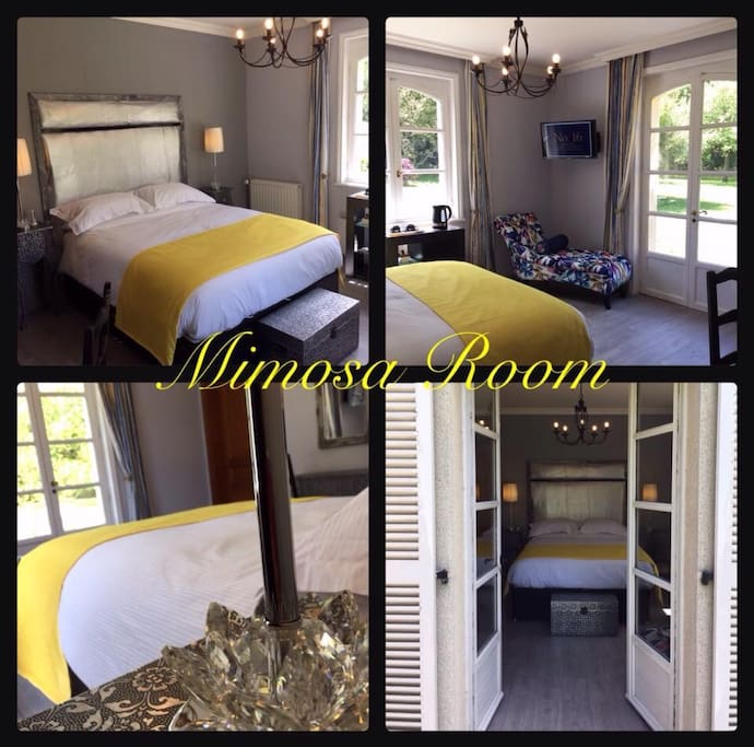 No 16 chambres d 39 hotes mimosa room with terrace for Boutique hotel normandie