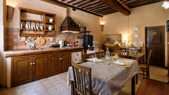 House with 4 bedrooms in Montalcino, with wonderful city view and WiFi