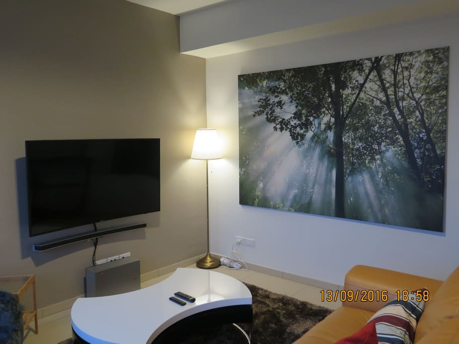 Lamp and cozy picture at Living room