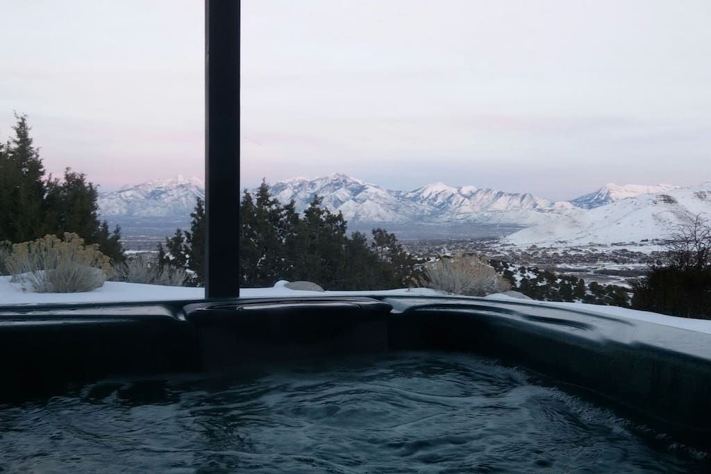 relaxing spa jacuzzi with perfect views