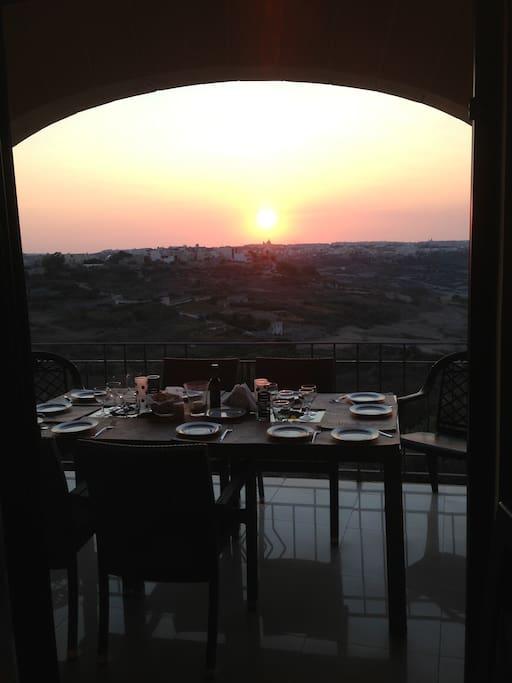 Cena con vista panoramica