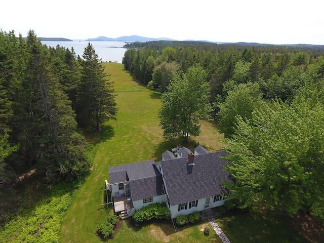 Acadia Park Frenchman Bay coastal home w MDI views