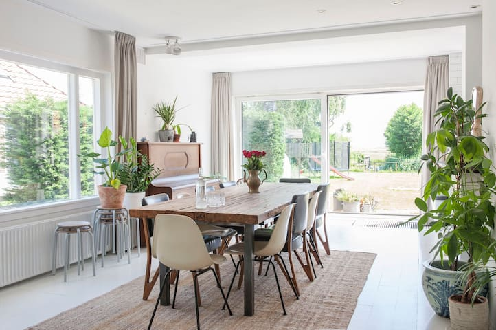 Stylish family house in Amsterdam with big garden
