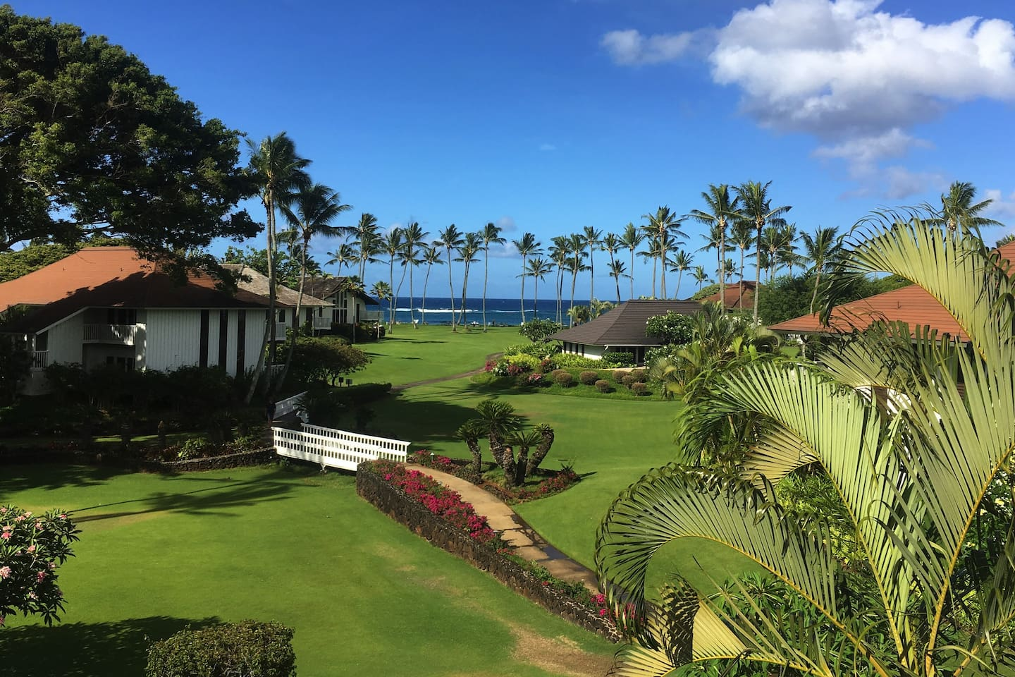 View from Private Lanai - Steps Away from Stunning Poipu Beach