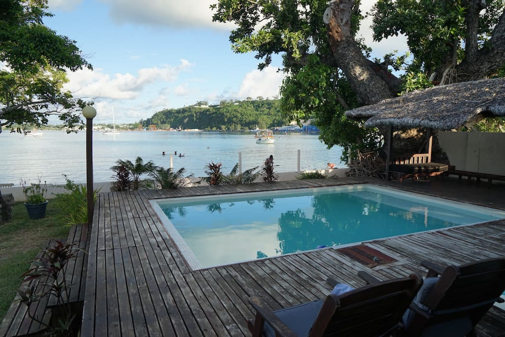 Pool Deck and Port Vila Harbour