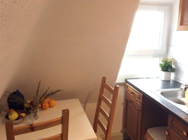 Einfaches Bett in einfacher Unterkunft - Stuttgart - Appartement
